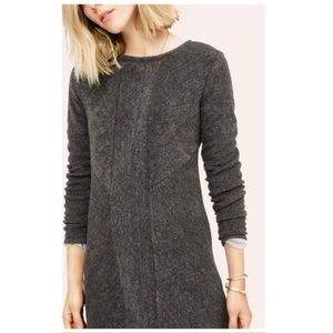 Lou & Grey Fleece Sweater Dress Shift Long Sleeves